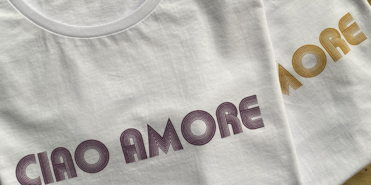 tshirt ciao amore